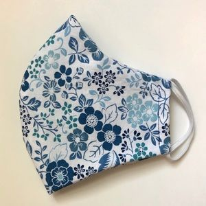 Accessories - 25% OFF 2/More Blue Floral Face Mask OSFM Cotton
